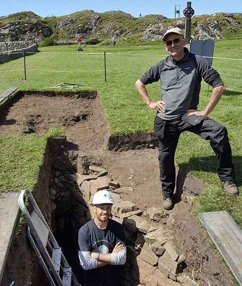 Dr Ewan Campbell and Dr Adrián Maldonado appeared in the BBC programme to give an insight into their groundbreaking new research on the early monastery of Iona in the Inner Hebrides of Scotland.