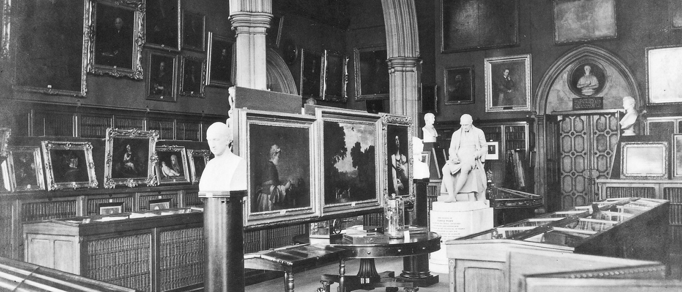 The Hunterian Museum in 1870
