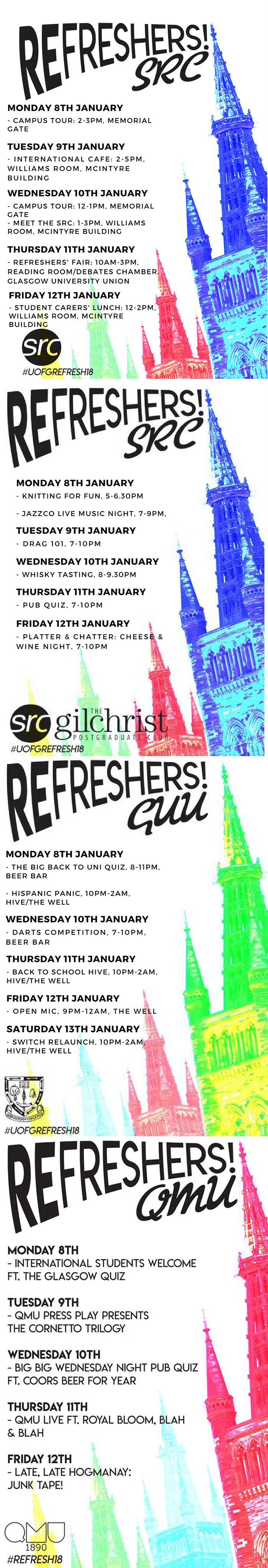 Refreshers Week Events