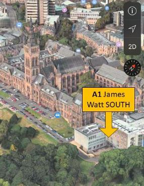 JWS building on map - Apple Map 3d view