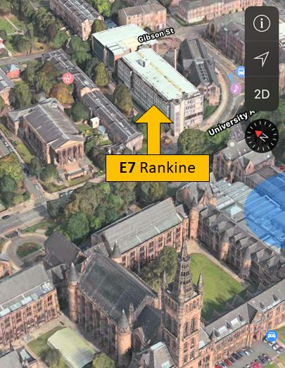 MAP - Rankine Building, Glasgow University - 3D view