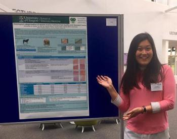 Image of Su Wei Tay presenting her poster at the AVTRW Conference in September 2017.