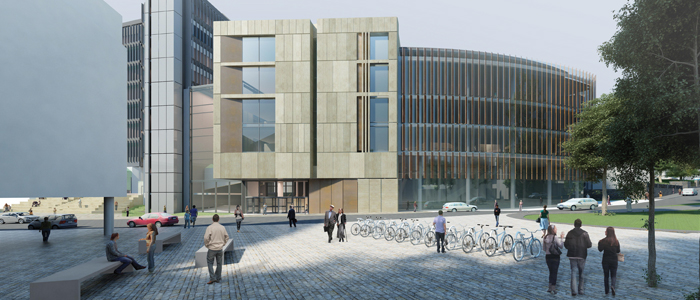 Artist's impression of the new Learning & Teaching Hub