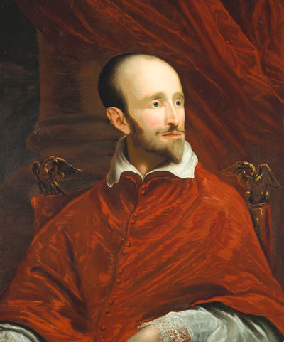 John Smibert, after Anthony van Dyck, Cardinal Guido Bentivoglio, c. 1719–20. Oil on canvas. Harvard Art Museums/Fogg Museum, Transfer from Harvard University Portrait Collection, 1969.50. Photo: Harvard Art Museums; © President and Fellows of Harvard College.