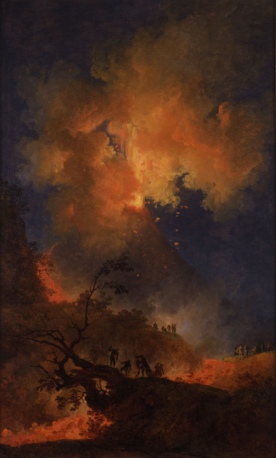 Pierre-Jacques Volaire, Vesuvius Erupting at Night, 1767. Oil on canvas. Compton Verney Art Gallery & Park, Warwickshire, U.K. Photo: Courtesy of Compton Verney Art Gallery & Park.