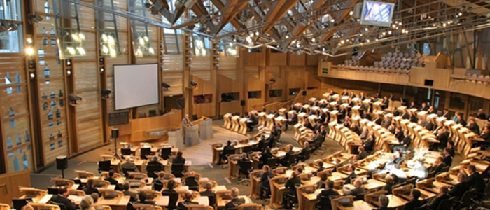 Image of the Scottish parliament chamber