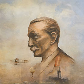 Portrait of Lieutenant General Sir David Henderson, the forgotten father of the RAF, by Professor Dugald Cameron