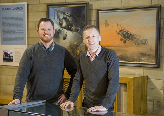 The Hunterian Museum's Jesper Ericsson, Exhibition Curator; and Chris MacLure, Exhibition Designer