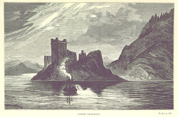 Castle Urquhart, by Eliza Gordon-Cumming's daughter, travel writer and artist Constance Gordon-Cumming. Image courtesy of the British Library