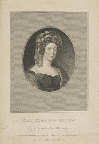 'Eliza Maria (Campbell), d. 1842. Wife of Sir William Gordon-Cumming' by J. Thomson. Image courtesy of the National Galleries of Scotland