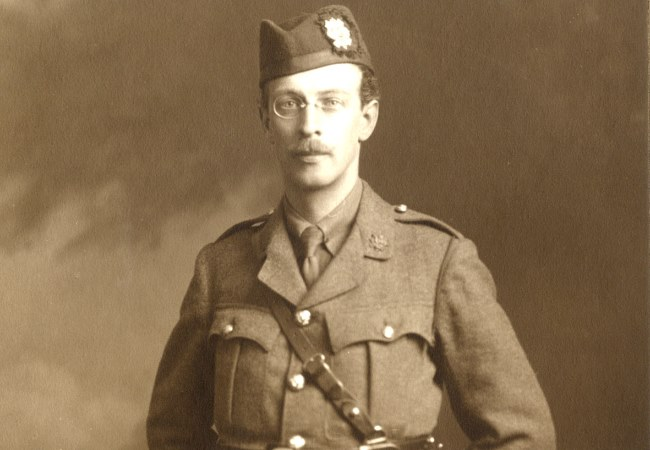 Letters from a Prisoner of War 1918 Project goes live. Professor Archibald Bowman in his First World War Uniform