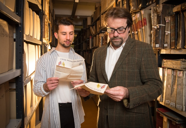 Letters from a Prisoner of War 1918 Project goes live. Professor Tony Pollard and History of Art student Petros Aronis