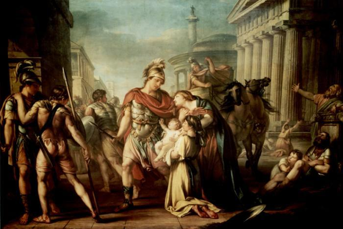 Gavin Hamilton painting of Hector's Farewell to Andromache