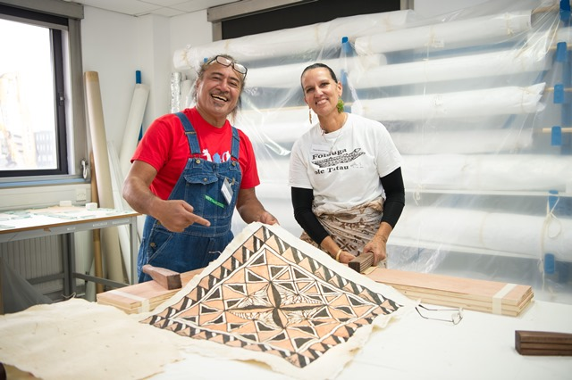 Barkcloth workshop with American Samoan experts at the University of Glasgow