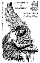 black and white logo of the Daedalus 1 flight simultor