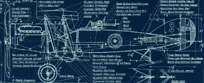 Blueprint of the Bristol Fighter 2 aircraft