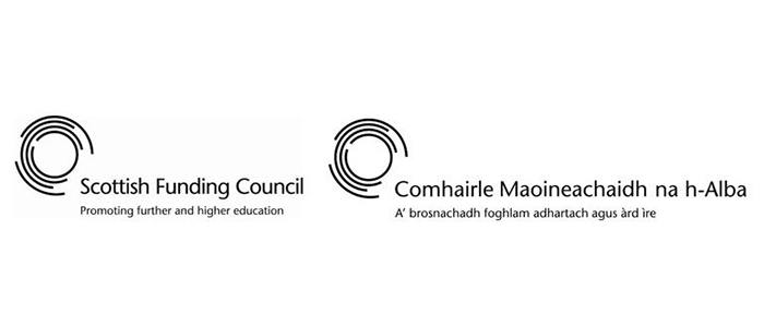 Scottish Funding Council logos in English and Gaelic