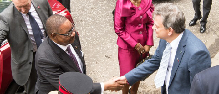 His Excellency, Professor Peter Mutharika, President of the Republic of Malawi, visited the University on Monday