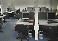 Resource Room computer workstations