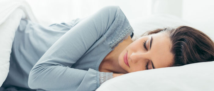 Image of a female sleeping