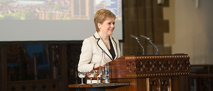 Nicola Sturgeon MSP delivers 2018 Cardinal Winning Lecture
