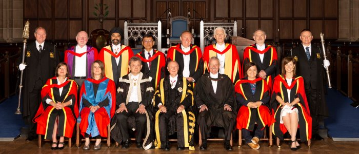 Honorary Grads Summer 2018 Front left to right