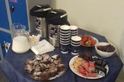 Photo of refreshments for IHW new staff coffee morning June 2018