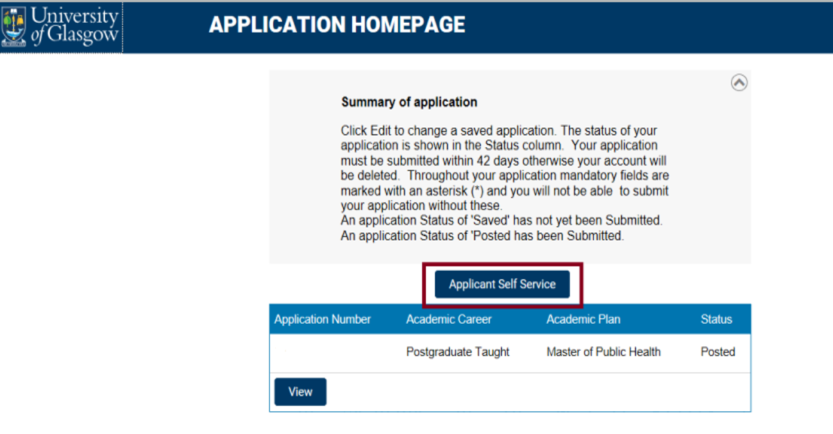 Summary of application