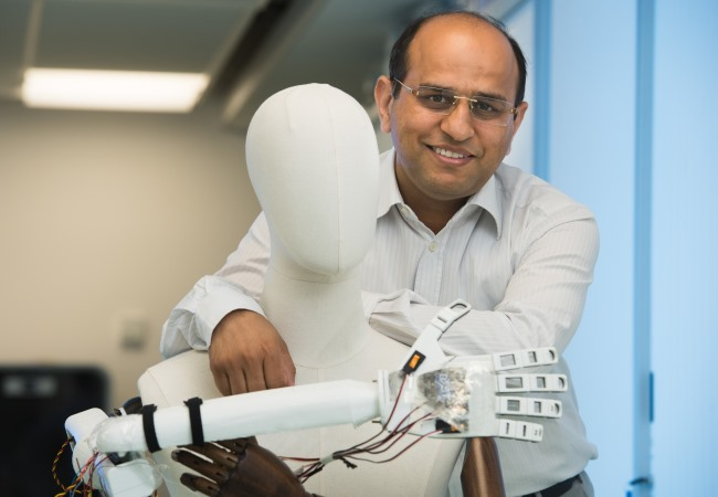 Synthetic 'Brainy Skin' with sense of touch gets £1.5m funding. Photo of Professor Ravinder Dahiya