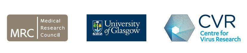 MRC, University of Glasgow and CVR logos