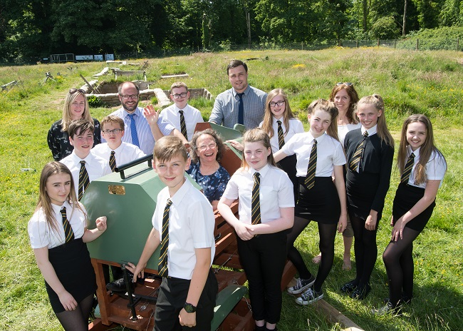 Teachers and pupils from Clydebank High School visit the Wings to War project at Pollok Country Park