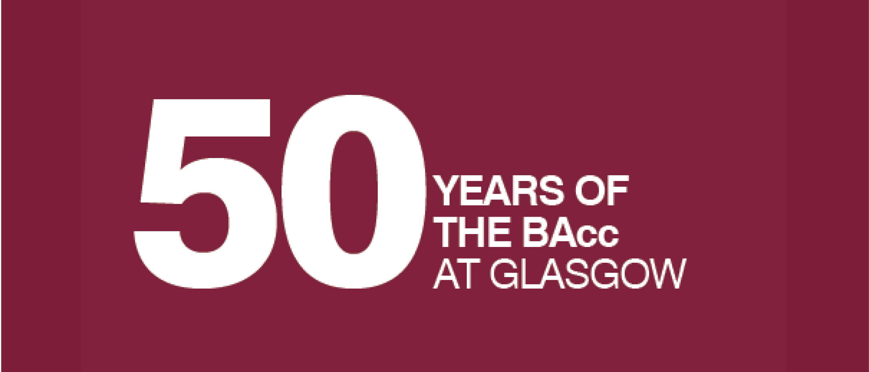 BAcc 50 celebration logo