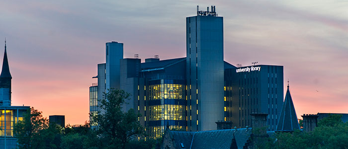 700x300 - Shot of the Library at dusk. Quite lovely.