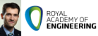Dr Matteo Ceriotti and Royal Academy of Engineering logo