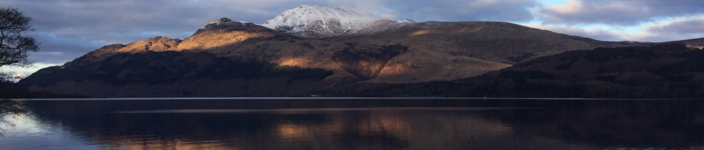 Ben Lomond and Loch Lomond - 1400x300