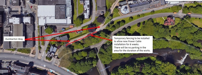 Google Map image of Dumbarton Way parking restrictions 700x300