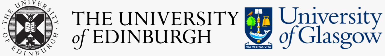 UofG and UofE logos on grey bg