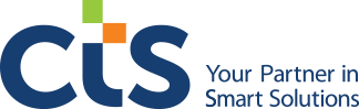 CTS logo; the letters CTS in blue, with the subtitle