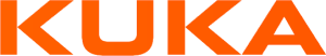 The Kuka Robotics logo. The name Kuka in orange.