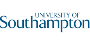 University of Southampton logo; the name in light blue, Southampton in large letters underneath University