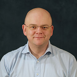 Portrait photo of Dr Richard Mosses, Programme Manager on the Ultrasurge programme, based at the University of Glasgow