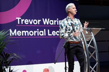 Professor Rory O'Connor delivers the Trevor Waring Memorial Lecture in November 2018