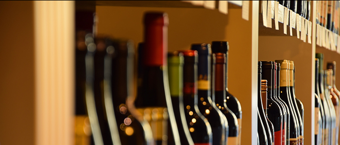 Photo of wine bottles in offlicence