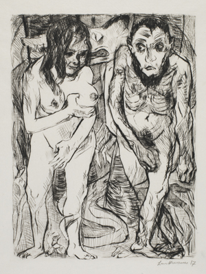 Max Beckmann, Adam und Eva (Adam and Eve), 1917 © DACS 2019.