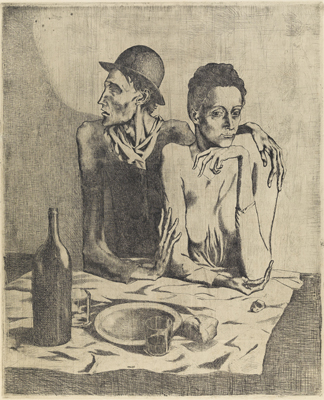 Pablo Picasso, Le repas frugal (The frugal meal), 1904 © Succession Picasso/DACS, London 2019.