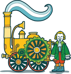 James Watt and engine
