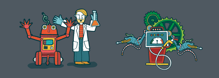 Robot and scientist