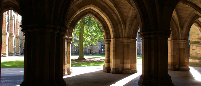 Photo of University of Glasgow cloisters