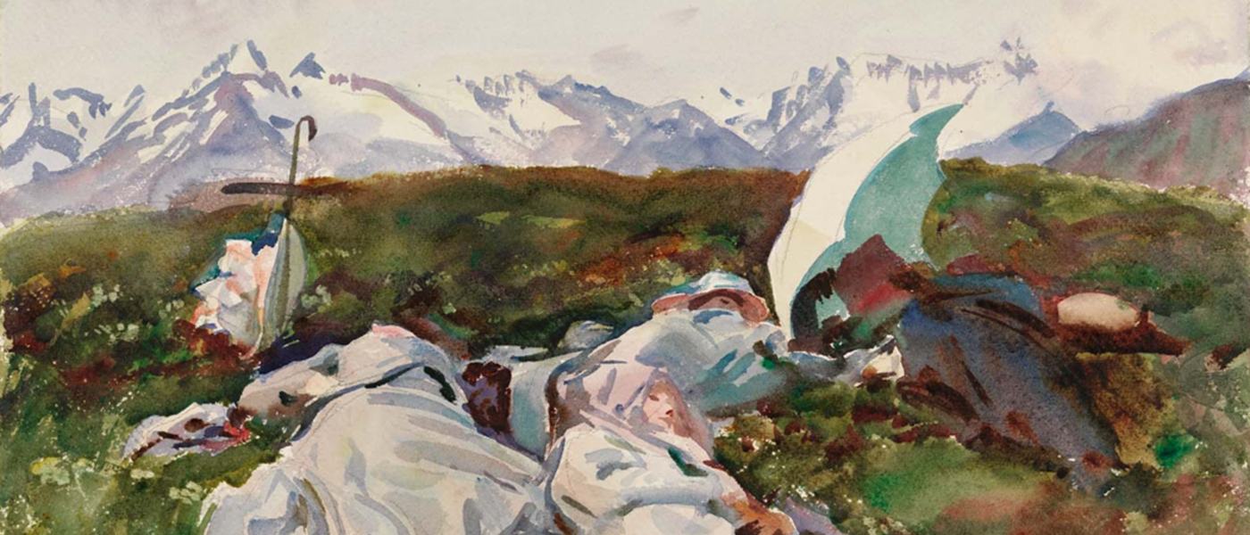 John Singer Sargent, Simplon Pass: At the Top, c. 1909-11. Image courtesy Museum of Fine Arts Boston, The Hayden Collection—Charles Henry Hayden Fund.