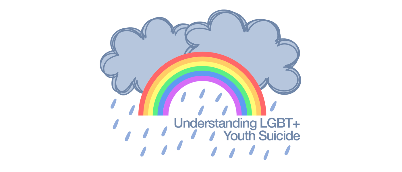 Understanding LGBT+ youth suicide logo